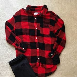 Old Navy Buffalo Plaid Button Down Shirt